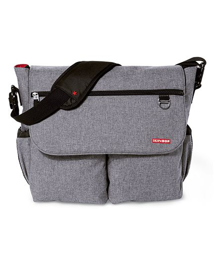 Skip Hop Dash Signature Messenger Diaper Bag - Heather Grey