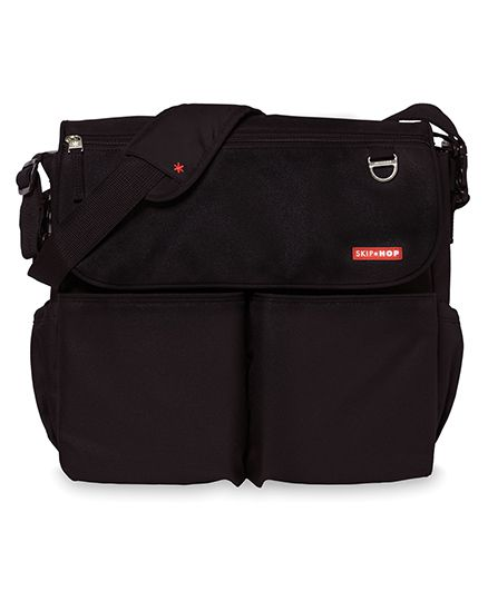 Skip Hop Dash Signature Messenger Diaper Bag - Black