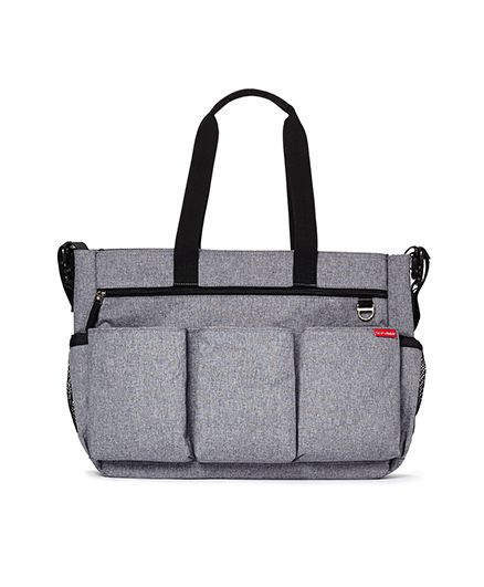 Skip Hop Duo Double Signature Diaper Bag - Grey