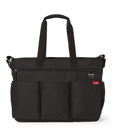 Skip Hop Duo Double Signature Diaper Bag - Black