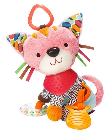 Skip Hop Bandana Buddies Kitty Soft Activity Toy - Multicolor