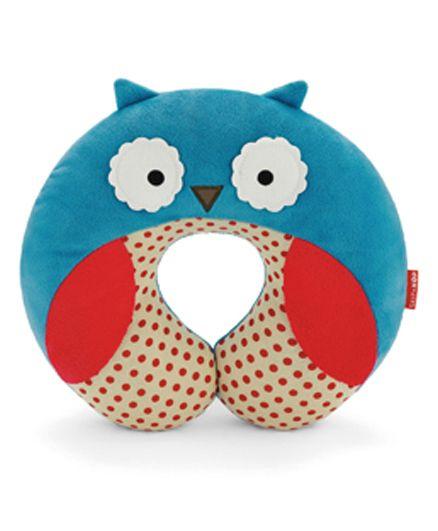 Skip Hop Zoo Travel Neck Rest Pillow Owl Design - Blue