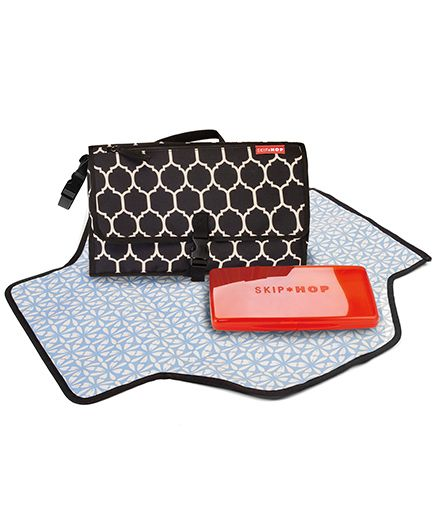 Skip Hop Pronto Portable Mini Changing Mat Station Tile Design - Black