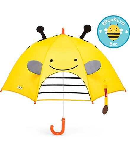 Skip Hop Little Kid And Toddler Umbrella Zoo Bee Design - Yellow