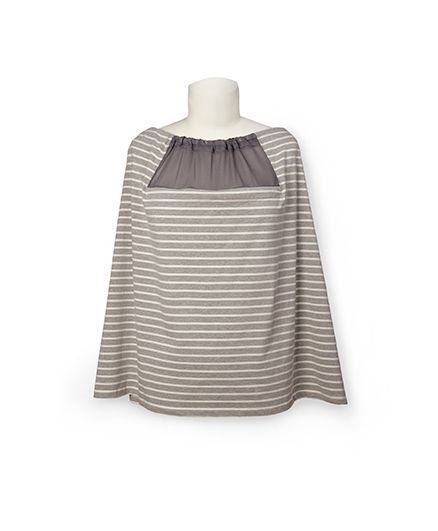 Skip Hop Hide-And-Chic Stripes Breastfeeding and Nursing Scarf - Grey