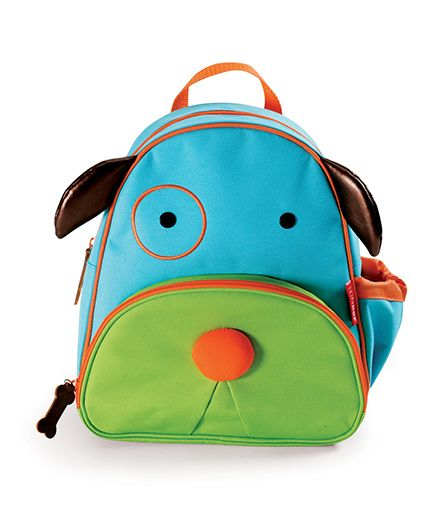Skip Hop Backpack Dog Design Blue Green - 12 inches