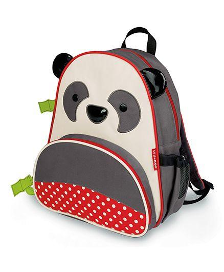 Skip Hop Backpack Pia Panda Design Grey & White - 12 inches