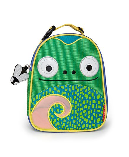 Skiphop Zoo Insulated Lunch Bag Cody Chameleon Design - Green