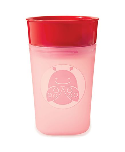 Skip Hop Turn-And-Learn Training Cup Livie LadyBug Design - Pink Red