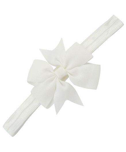 Angel Closet Flower Bow Headband - White