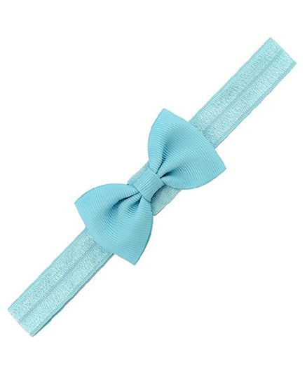 Angel Closet Small Bow Headband - Blue