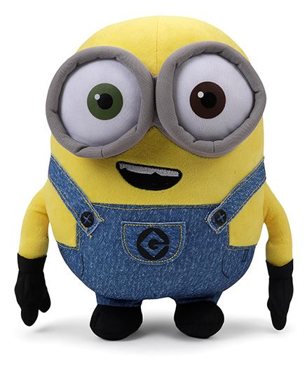 Minions Bob Plush Toy Blue Yellow - Height 30 cm