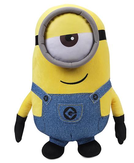 Minions Stuart Plush Soft Toy Yellow & Blue - 40 cm
