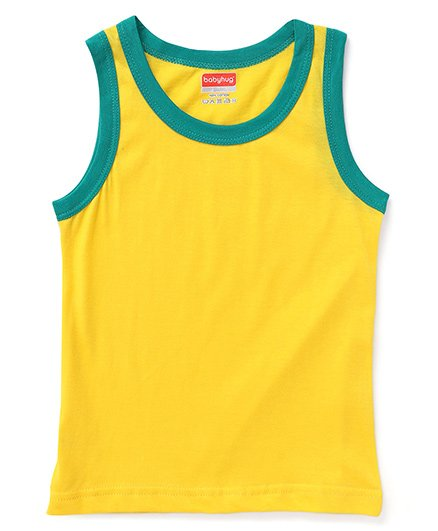 Babyhug Sleeveless Vest - Yellow