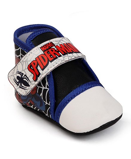 Spider Man Booties With Velcro Closure - Blue Black