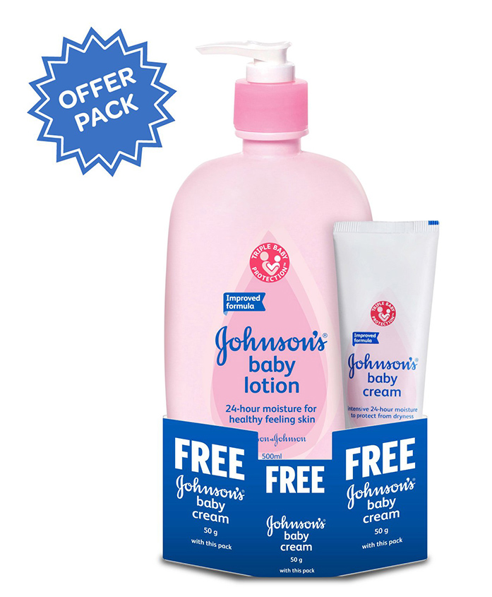Johnson's Baby Lotion With Johnson's Baby Cream 50 G FREE - 500 Ml