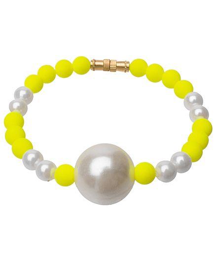Daizy Beautiful Beads Bracelet - Yellow & White