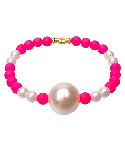 Daizy Pearl Bracelet - Pink & White
