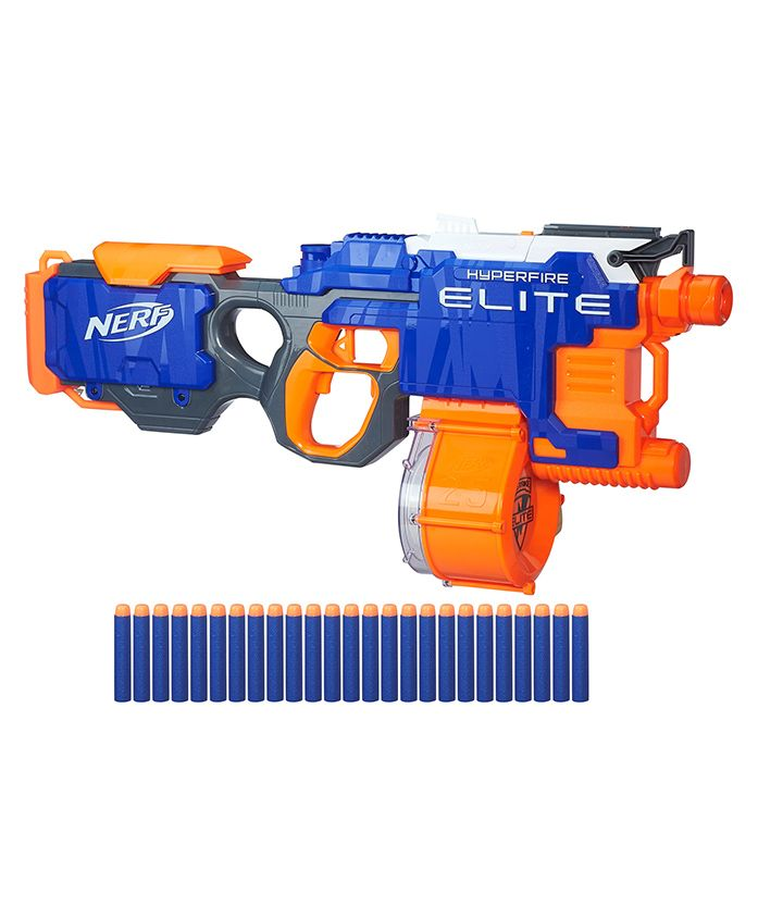 Nerf N Strike Hyperfire Toy Gun - Blue Orange