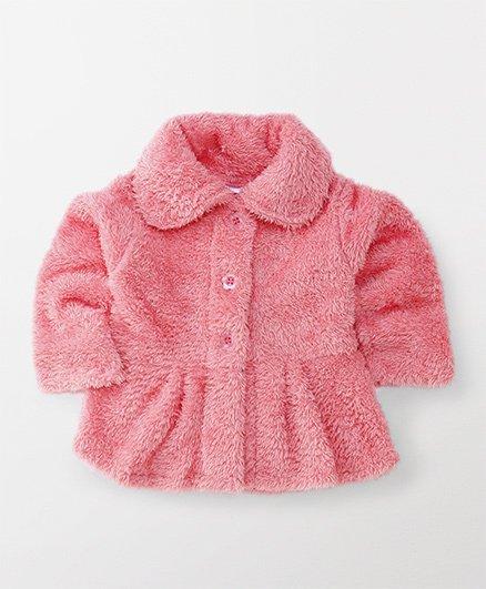 Babyhug Full Sleeves Front Open Jacket - Pink