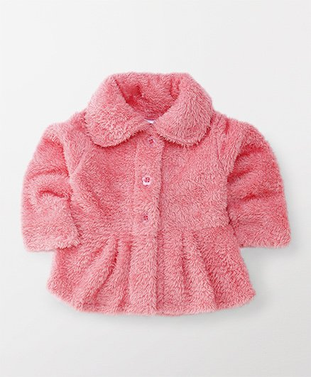 Babyhug Full Sleeves Front Open Jacket - Pink