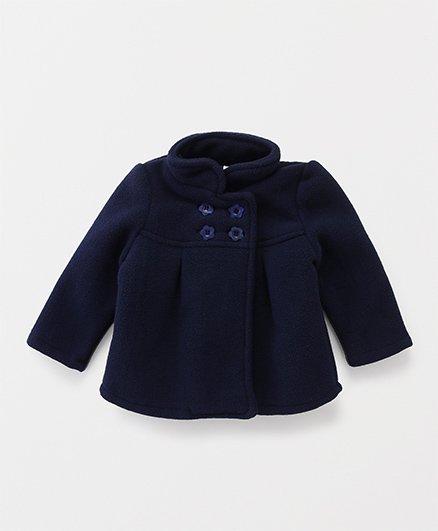 Babyhug Full Sleeves Jacket - Navy Blue
