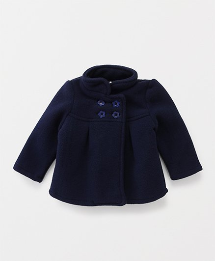 Babyhug Full Sleeves Jacket - Navy Blue