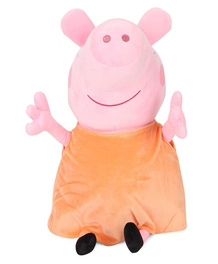 Peppa Pig Mummy Pig Plush Soft Toy Pink & Brown - 46 cm