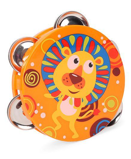 Sunny Orff Music Set Tambourine Rattle Animal Print - Orange