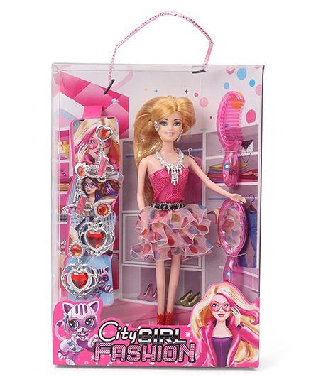 Sunny City Girl Fashion Doll Pink - 28 cm