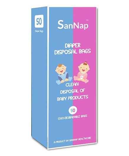 SanNap Baby Diaper Disposal Bags - Pack Of 50 Bags
