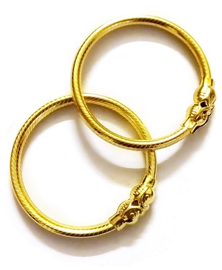 Akinos Kids Tradional Bangle Nazariya - Gold