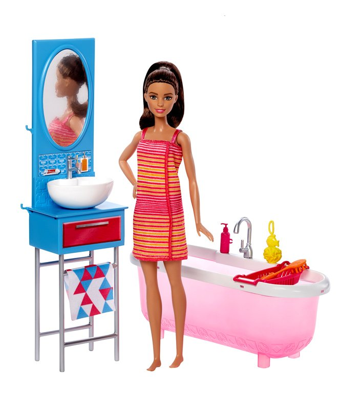 c7cb4538f1d 24%off Barbie Fashion Doll With Bath Accessories Pink - 29 cm