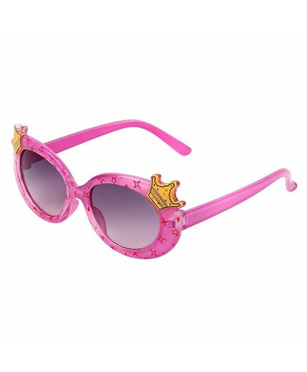Miss Diva Double Crown Design Sunglasses - Magenta