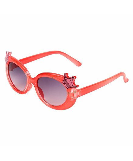 Miss Diva Double Crown Design Sunglasses - Orange