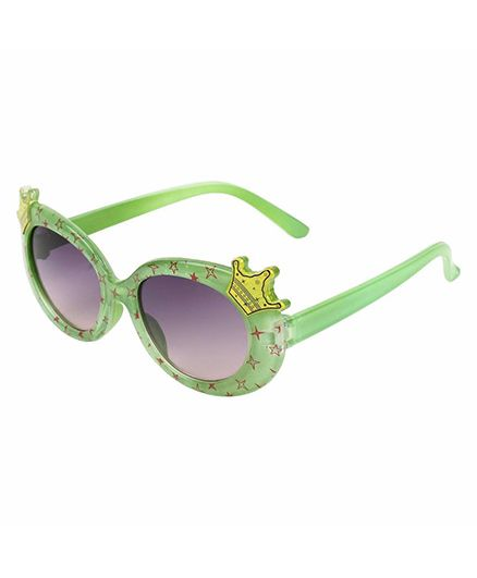 Miss Diva Double Crown Design Sunglasses - Green