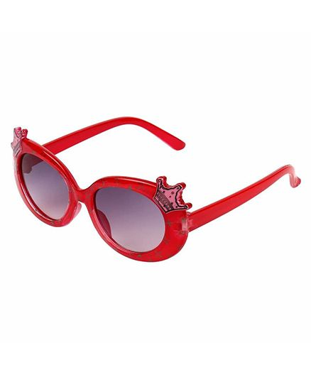 Miss Diva Double Crown Design Sunglasses - Red