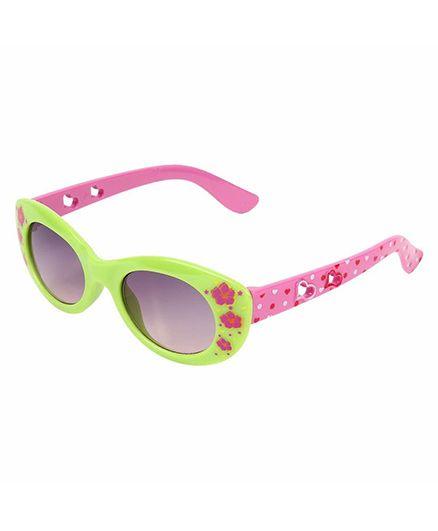 Miss Diva Double Flower Smart Sunglasses - Green
