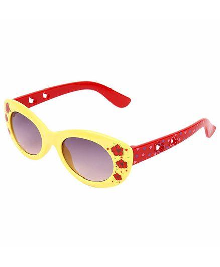 Miss Diva Double Flower Smart Sunglasses - Yellow