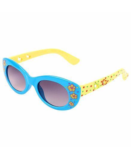 Miss Diva Double Flower Smart Sunglasses - Turquoise