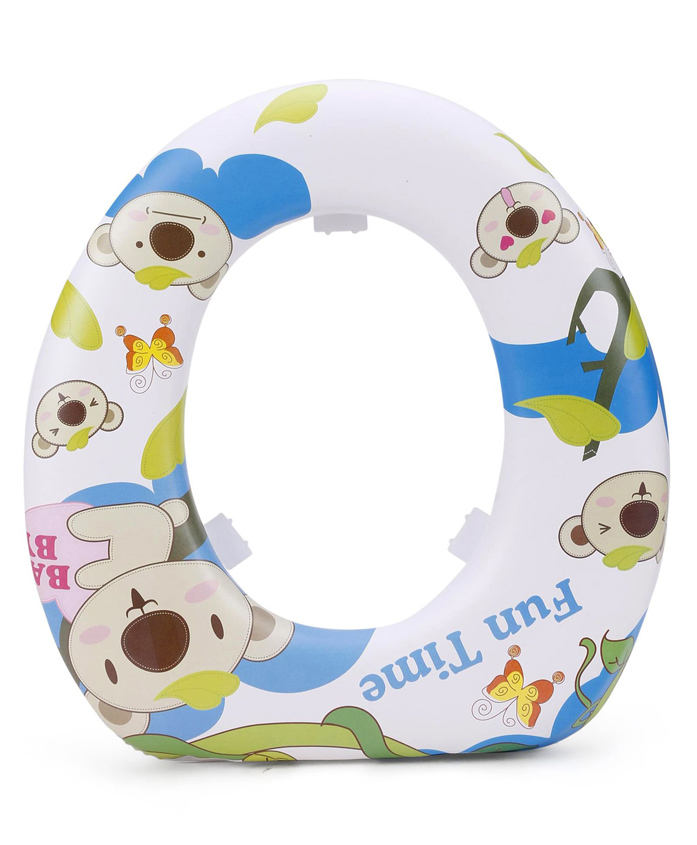 Babyhug Soft Cushioned Potty Seat Fun Time Print - White Blue