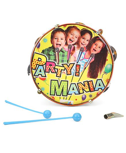 Mansaji Toy Dafli With Sticks Party Mania Print - Yellow