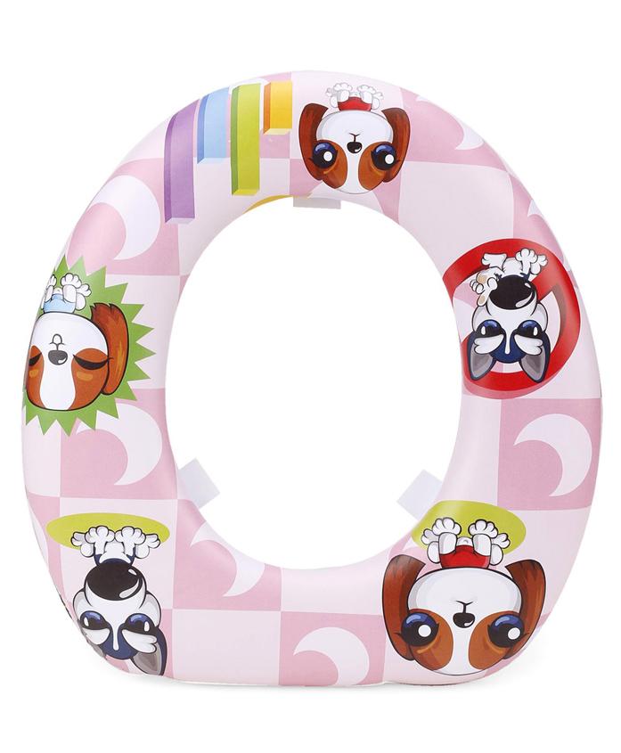 Babyhug Soft Cushioned Potty Seat Puppy Print - Pink