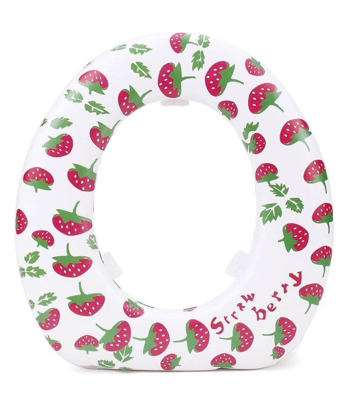 Babyhug Soft Cushioned Potty Seat Strawberry Print - White