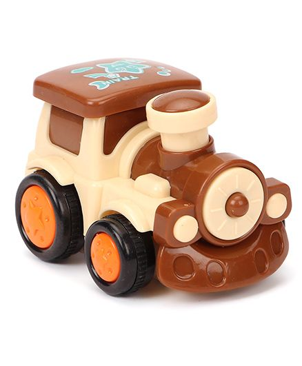 Smiles Creation Toy Train Engine - Coffee Brown & Cream