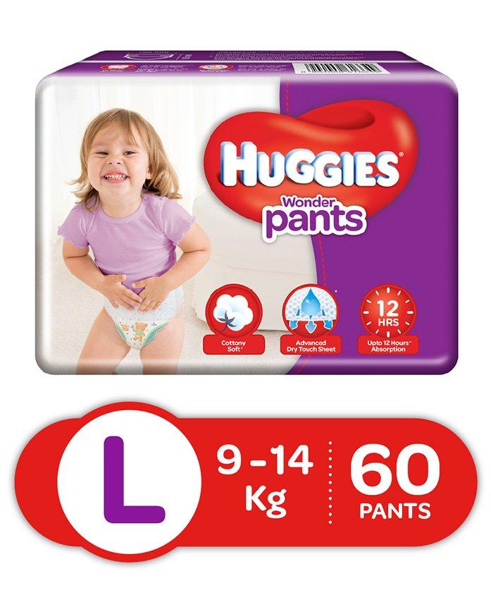Huggies Wonder Pants L Diapers (60 Pieces)