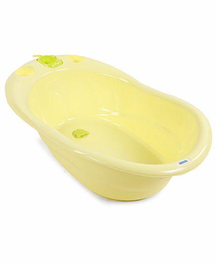 Baby Bath Tub With Bath Rake - Yellow Green