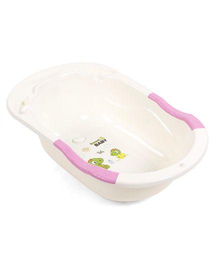 Baby Bath Tub Sweet Baby Print - Pink & Cream