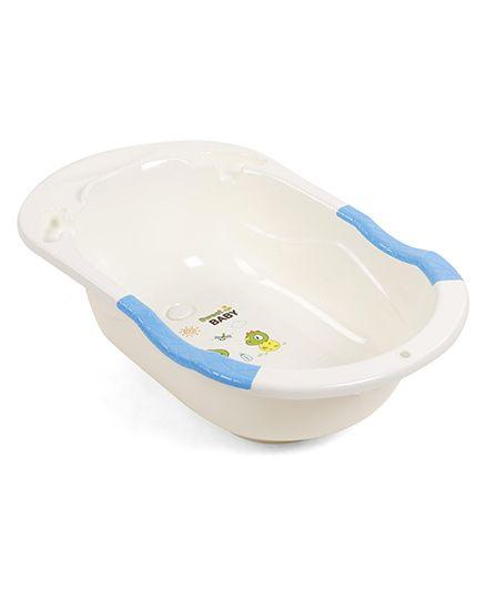 Baby Bath Tub Sweet Baby Print - Blue & Cream