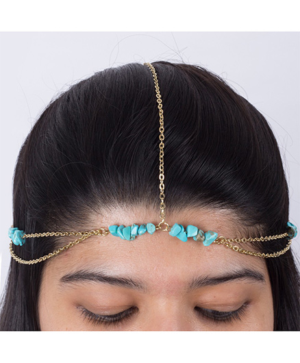 Funkrafts Beaded Hair Chain - Turquoise